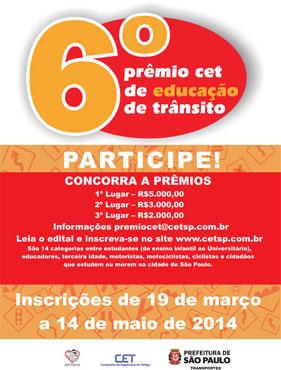6º Prêmio CET de Educação de Trânsito