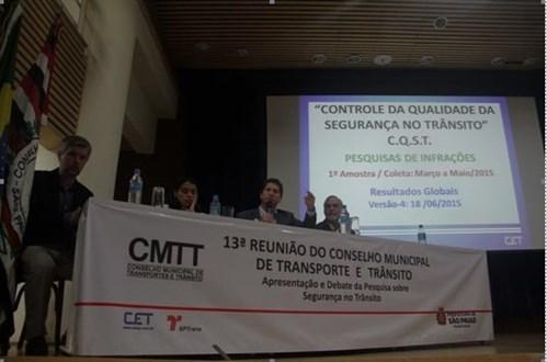 """Apresentação da pesquisa """"Controle da qualidade da segurança no Trânsito"""""""