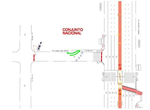 Croqui da Avenida Paulista indicando entrada do Conjunto Nacional