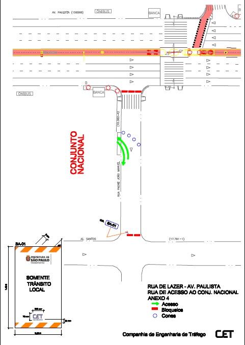 Conjunto Nacional: Rua Padre João Manuel, com saída para a Alameda Santos